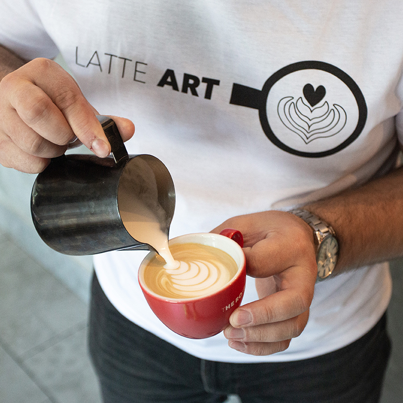 Latte Art - men's t-shirt - Size: 2XL